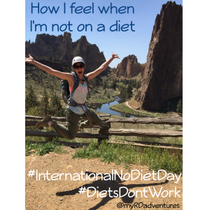 How I feel when I'm not on a diet- International No Diet Day