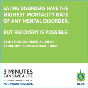 Eating Disorders have the highest mortality rate of any mental disorder. But recovery is possible.