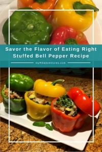 National Nutrition Month, Savor the flavor of eating right, stuffed bell pepper healthy recipe